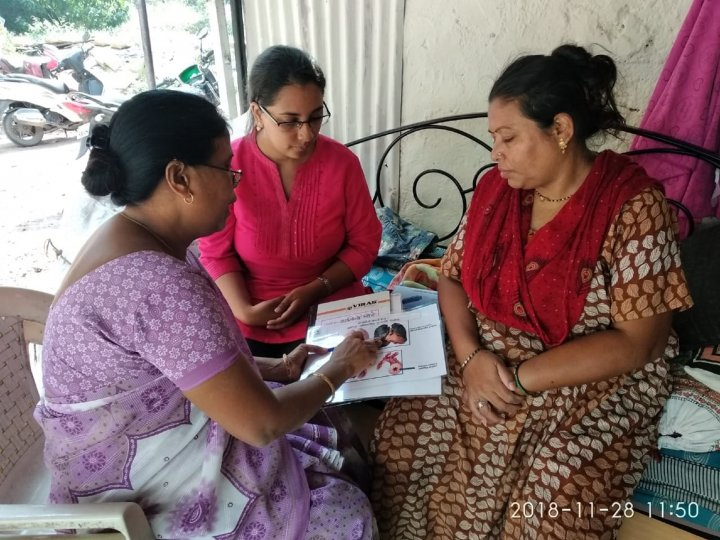 Community Health Worker Educating the Community on COPD
