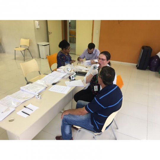 Evaluation of patients at UBS Parque São Bernardo, Vila Marchi as part of the piloting of the study