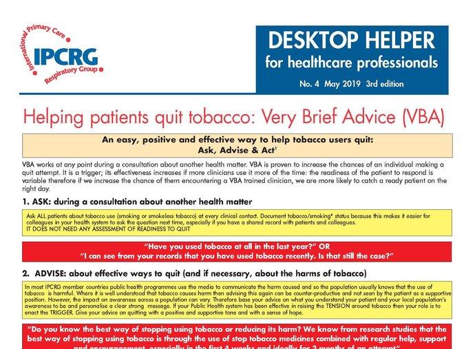 Image of Desktop Helper No. 4 - Helping patients quit tobacco - 3rd edition