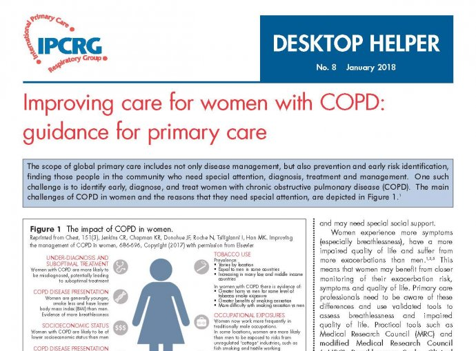 Desktop Helper No. 8 - Improving care for women with COPD: Guidance for primary care