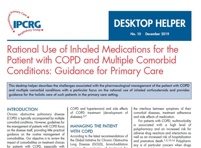 Image of Desktop Helper 10 - Rational use of inhaled medications for the patient with COPD and multiple comorbid conditions: guidance for primary care