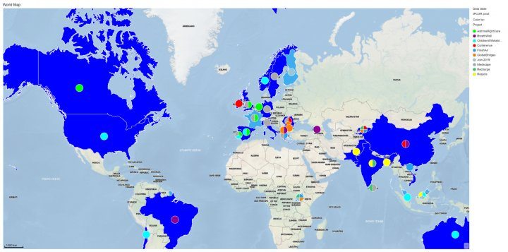 IPCRG Projects World Map